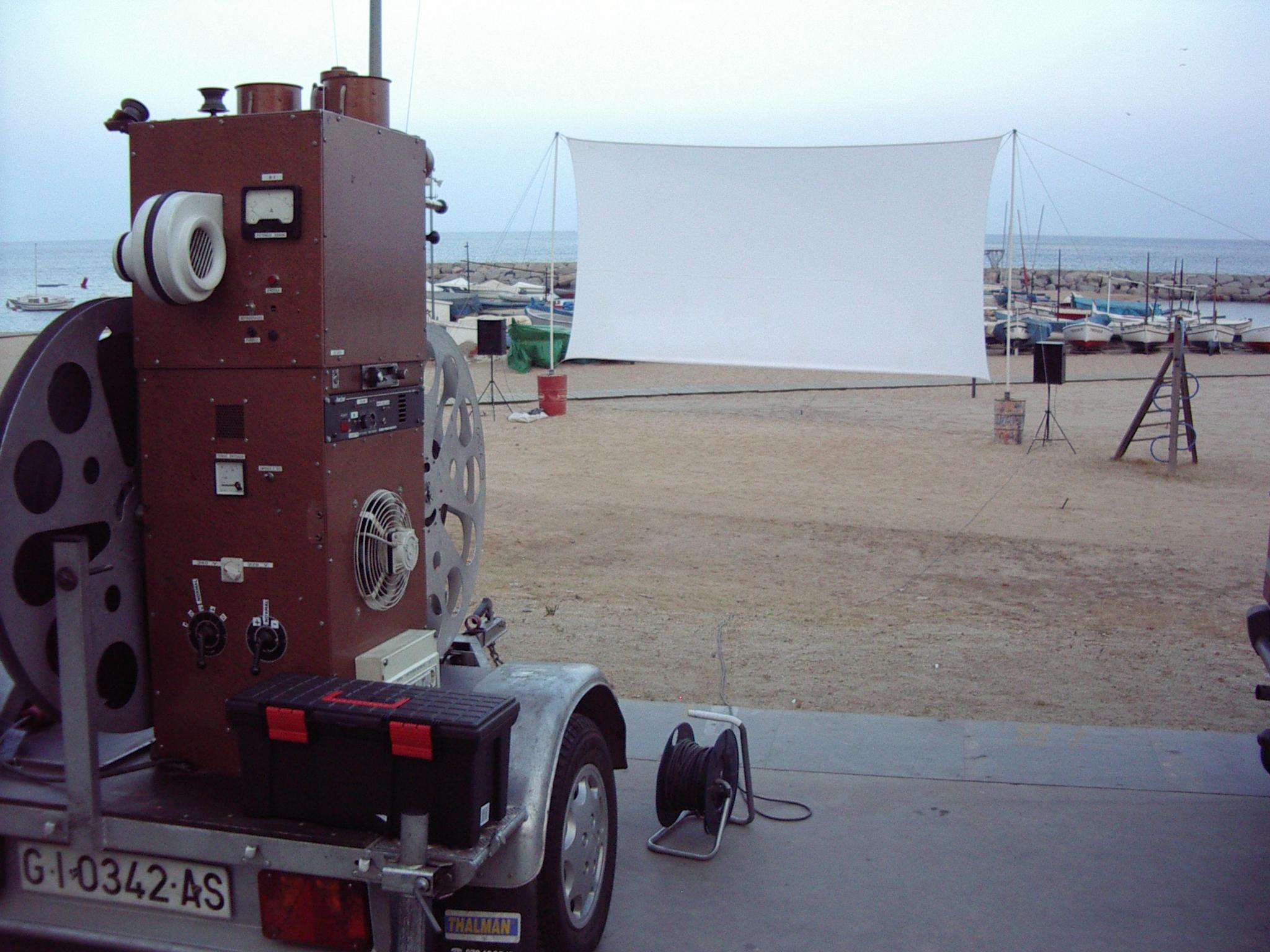 Cinema a la fresca a la platja