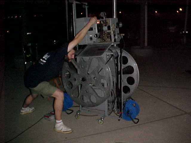 Cinema a la fresca projector